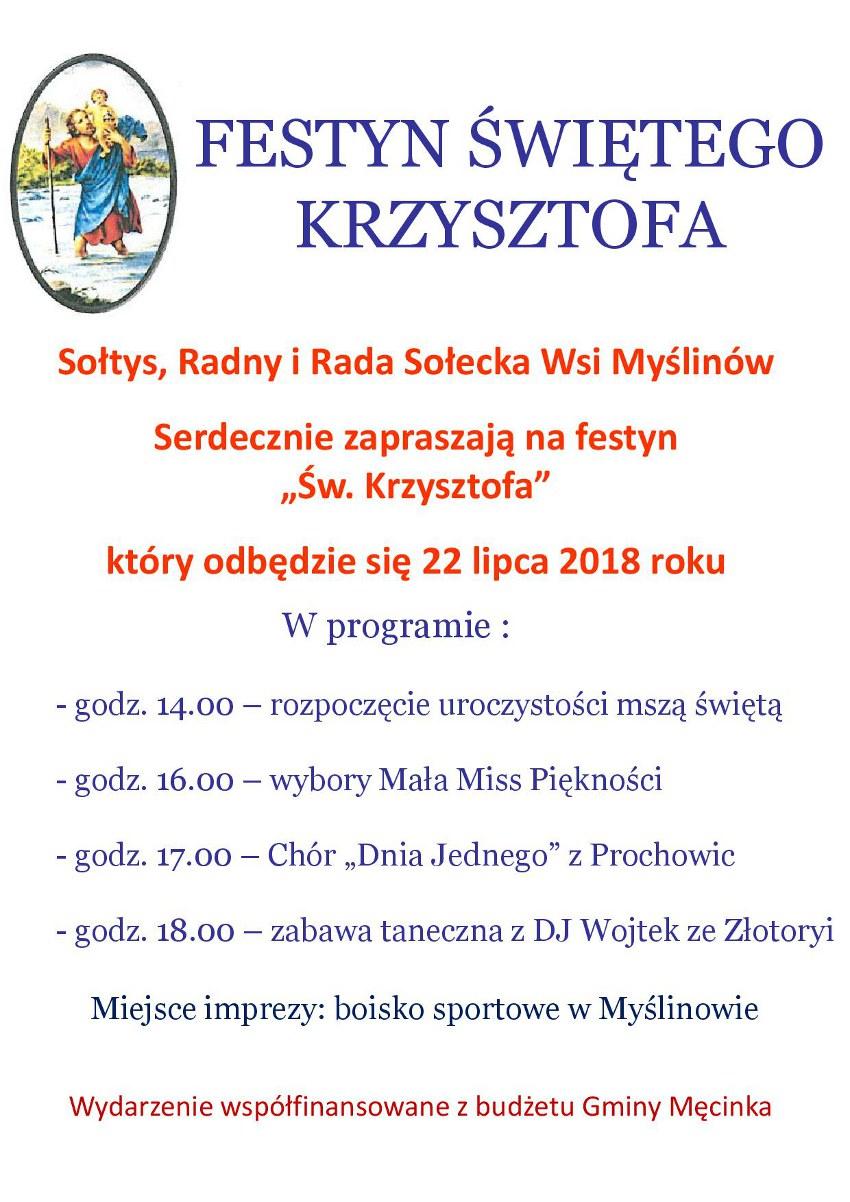 Festyn Świętego Krzysztofa w Myślinowie