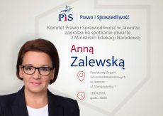 Minister Anna Zalewska odwiedzi Jawor