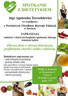 Spotkanie z dietetykiem w PORE w Jaworze